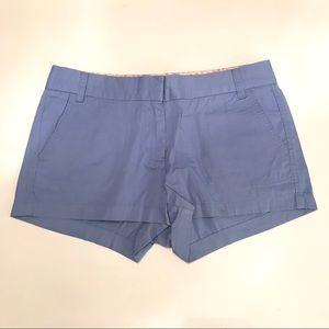 NWOT Size 8 J.Crew Periwinkle Blue Chino Shorts